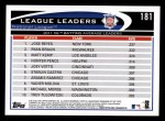 2012 Topps #181   -  Jose Reyes / Ryan Braun / Matt Kemp NL BA Leaders Back Thumbnail