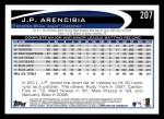2012 Topps #207  J.P. Arencibia  Back Thumbnail