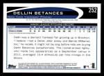 2012 Topps #252  Dellin Betances  Back Thumbnail