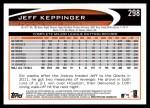 2012 Topps #298  Jeff Keppinger  Back Thumbnail