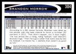 2012 Topps #304  Brandon Morrow  Back Thumbnail