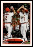 2012 Topps #320  Matt Holliday  Front Thumbnail