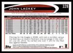 2012 Topps #328  John Lackey  Back Thumbnail