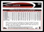 2012 Topps #501  Matt Capps  Back Thumbnail