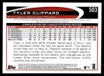 2012 Topps #503  Tyler Clippard  Back Thumbnail