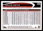 2012 Topps #506  David Ortiz  Back Thumbnail