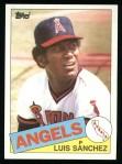 1985 Topps #42  Luis Sanchez  Front Thumbnail