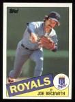 1985 Topps #77  Joe Beckwith  Front Thumbnail