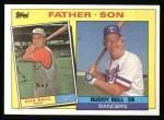 1985 Topps #131  Buddy Bell / Gus Bell  Front Thumbnail