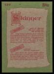 1985 Topps #139  Bob Skinner / Joel Skinner  Back Thumbnail