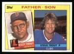 1985 Topps #142  Steve Trout / Dizzy Trout  Front Thumbnail