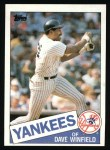 1985 Topps #180  Dave Winfield  Front Thumbnail
