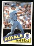 1985 Topps #188  Greg Pryor  Front Thumbnail