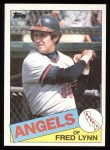 1985 Topps #220  Fred Lynn  Front Thumbnail