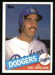 1985 Topps #253  Sid Bream  Front Thumbnail