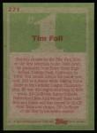 1985 Topps #271  Tim Foli  Back Thumbnail