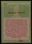 1985 Topps #282  Shawn Abner  Back Thumbnail