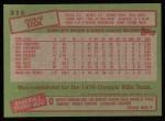 1985 Topps #315  Doug Sisk  Back Thumbnail