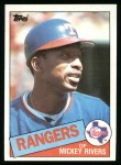 1985 Topps #371  Mickey Rivers  Front Thumbnail