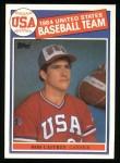 1985 Topps #394   -  Bob Caffrey Team USA Front Thumbnail