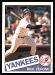 1985 Topps #429  Rick Cerone  Front Thumbnail