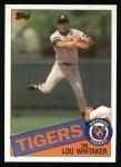 1985 Topps #480  Lou Whitaker  Front Thumbnail
