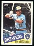 1985 Topps #498  Ed Romero  Front Thumbnail