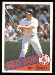1985 Topps #529  Rich Gedman  Front Thumbnail