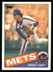 1985 Topps #546  Brent Gaff  Front Thumbnail