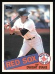 1985 Topps #580  Dwight Evans  Front Thumbnail