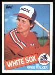 1985 Topps #623  Greg Walker  Front Thumbnail