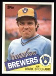 1985 Topps #653  Mark Brouhard  Front Thumbnail