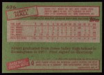 1985 Topps #676  Albert Hall  Back Thumbnail