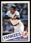 1985 Topps #738  Omar Moreno  Front Thumbnail