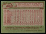1985 Topps #757  Willie McGee  Back Thumbnail