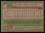1985 Topps #778  Mike Davis  Back Thumbnail