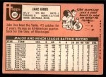 1969 Topps #401  Jake Gibbs  Back Thumbnail
