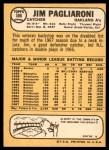 1968 Topps #586  Jim Pagliaroni  Back Thumbnail