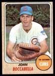 1968 Topps #542  John Boccabella  Front Thumbnail