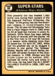 1968 Topps #490   -  Mickey Mantle / Willie Mays / Harmon Killebrew Super Stars Back Thumbnail