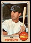 1968 Topps #195  Joe Pepitone  Front Thumbnail