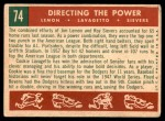 1959 Topps #74   -  Jim Lemon / Roy Sievers / Cookie Lavagetto Directing The Power Back Thumbnail