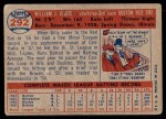 1957 Topps #292  Billy Klaus  Back Thumbnail