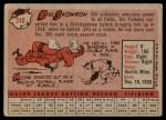 1958 Topps #240  Bill Skowron  Back Thumbnail