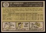 1961 Topps #129  Ed Hobaugh  Back Thumbnail