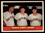 1961 Topps #383   -  Mike McCormick/ Jack Sanford / Billy ODell Frisco First Liners Front Thumbnail