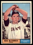 1961 Topps #305  Mike McCormick  Front Thumbnail