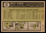1961 Topps #96  Billy O'Dell  Back Thumbnail