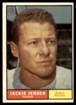 1961 Topps #540  Jackie Jensen  Front Thumbnail
