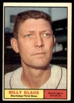 1961 Topps #187  Billy Klaus  Front Thumbnail